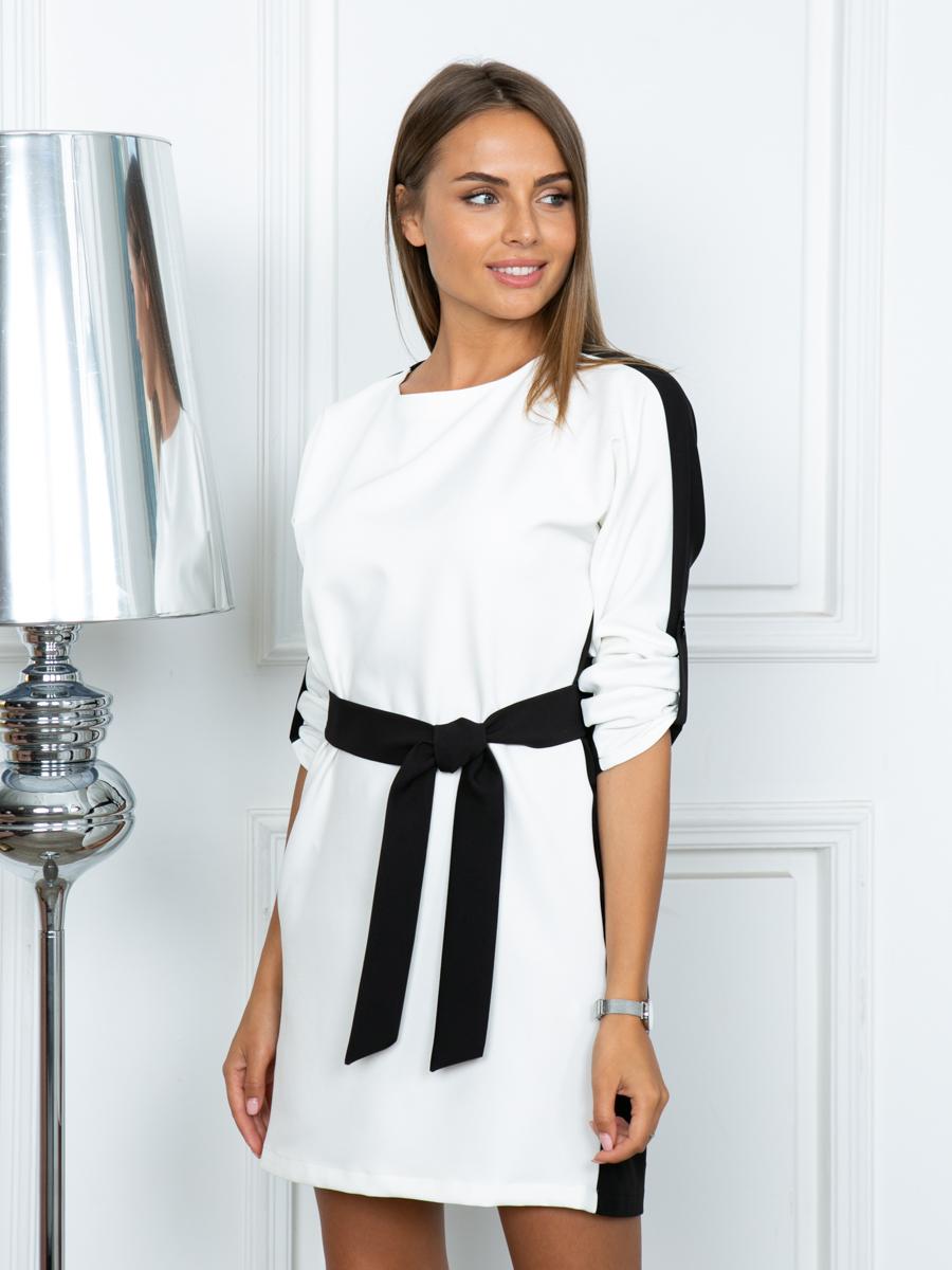 Платье A310 цвет черно-белый