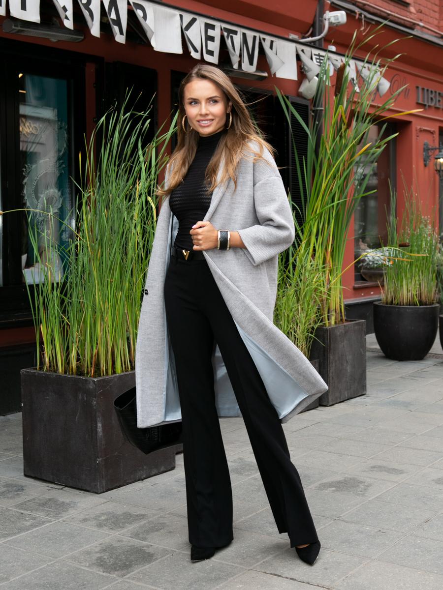 Пальто A324 цвет светло-серый