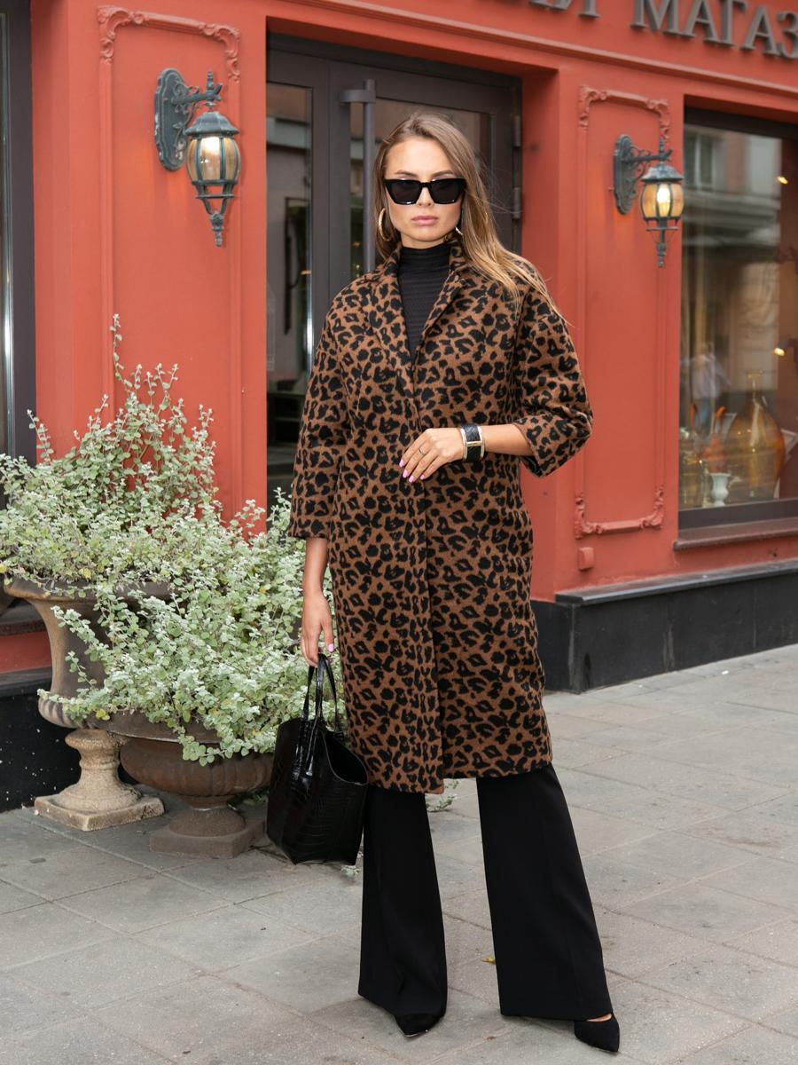 Пальто A324 цвет коричневый