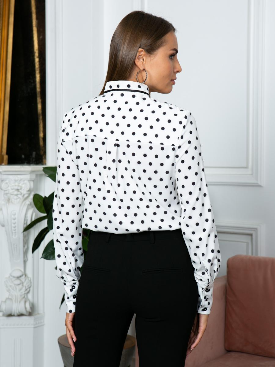 Блузка A304 цвет черно-белый