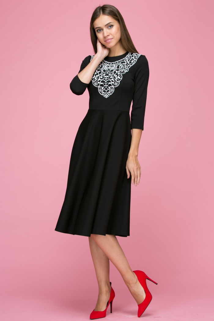 103 Платье цвет черный