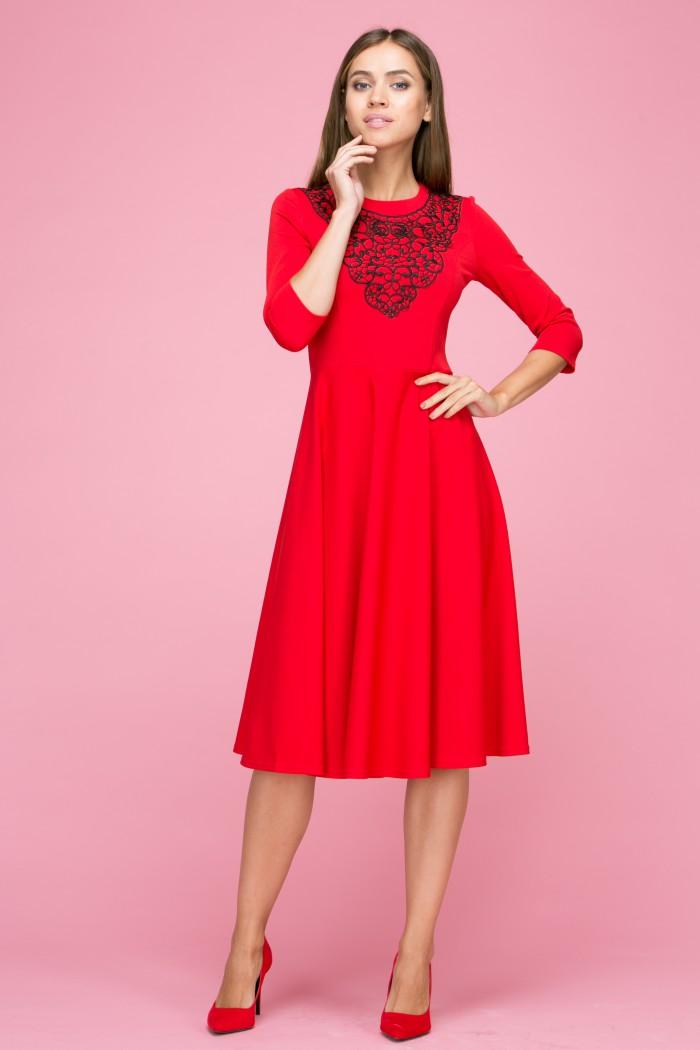 103 Платье цвет красный