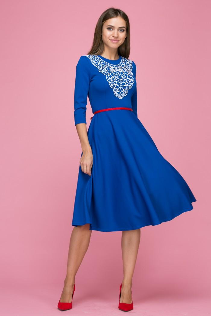 103 Платье цвет синий