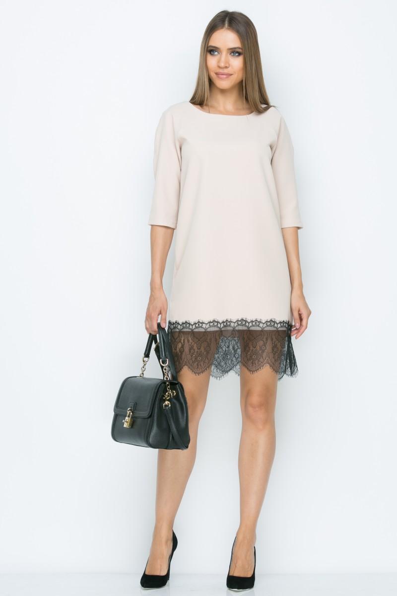 Платье A161 цвет бежевый