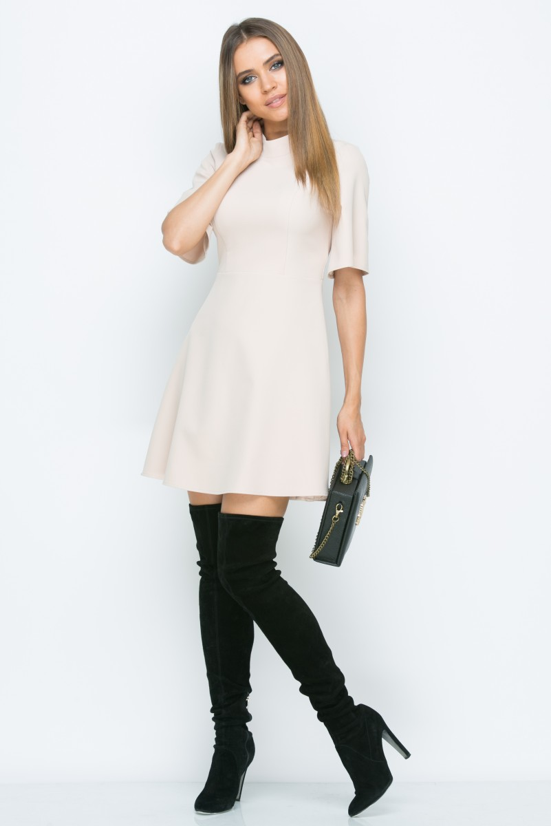 Платье A153 цвет бежевый