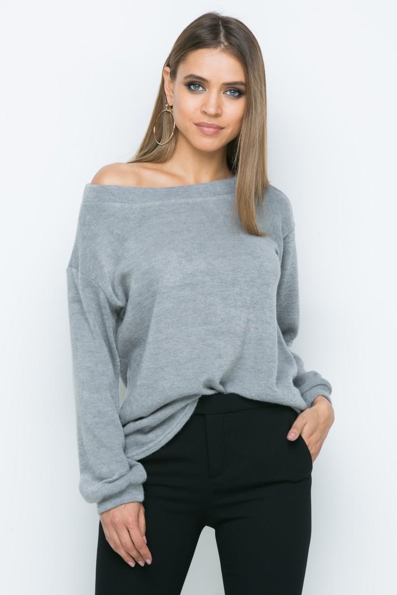 Джемпер A163 цвет серый