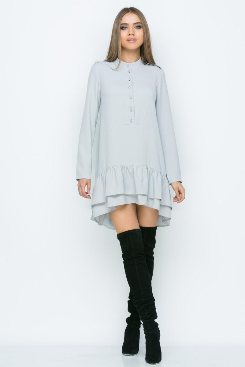 Платье A155 цвет св. серый