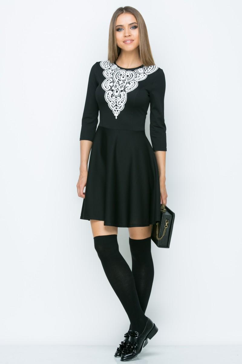 Платье A042 цвет черный