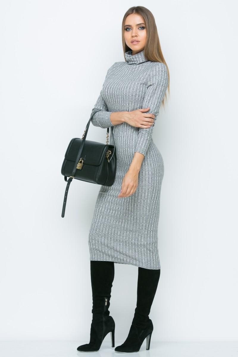 Платье A160 цвет серый