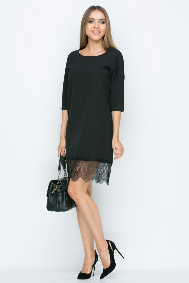 Платье A161 цвет черный
