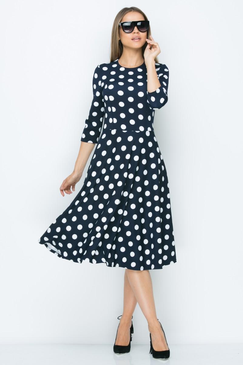 Платье A158 цвет синий