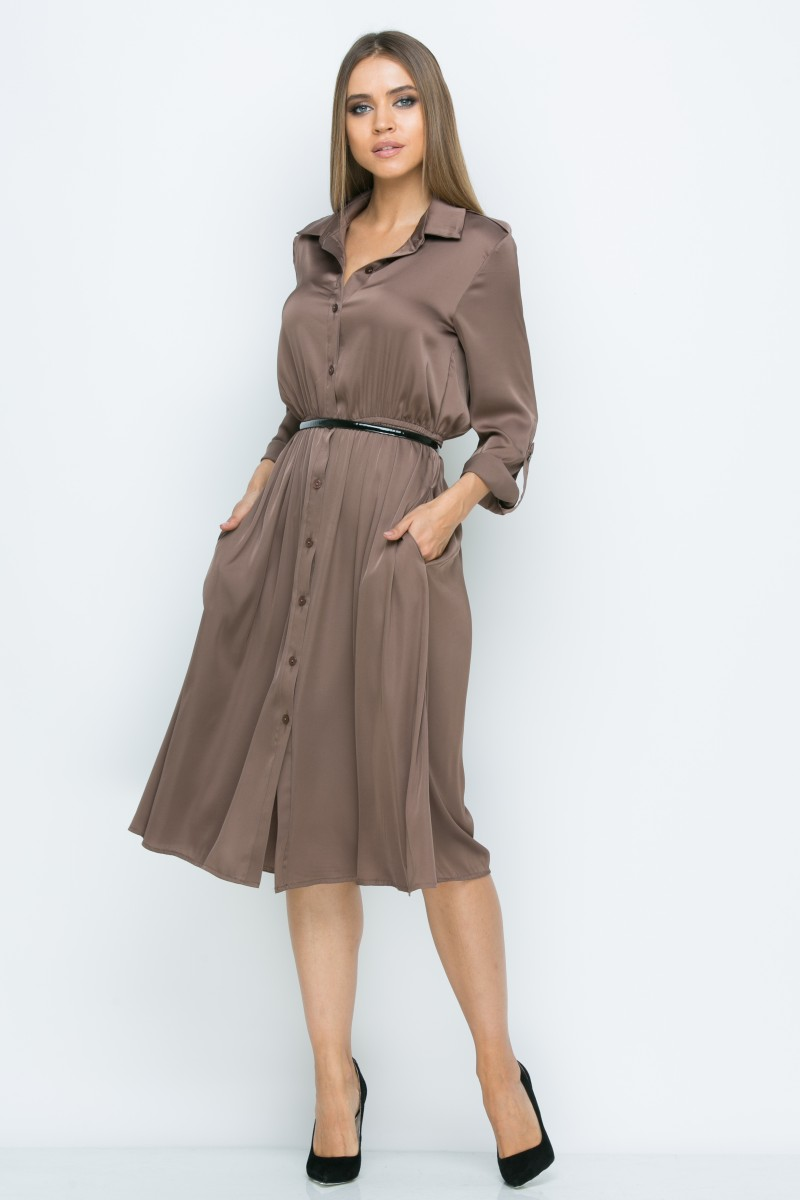 Платье V141 цвет шоколадный