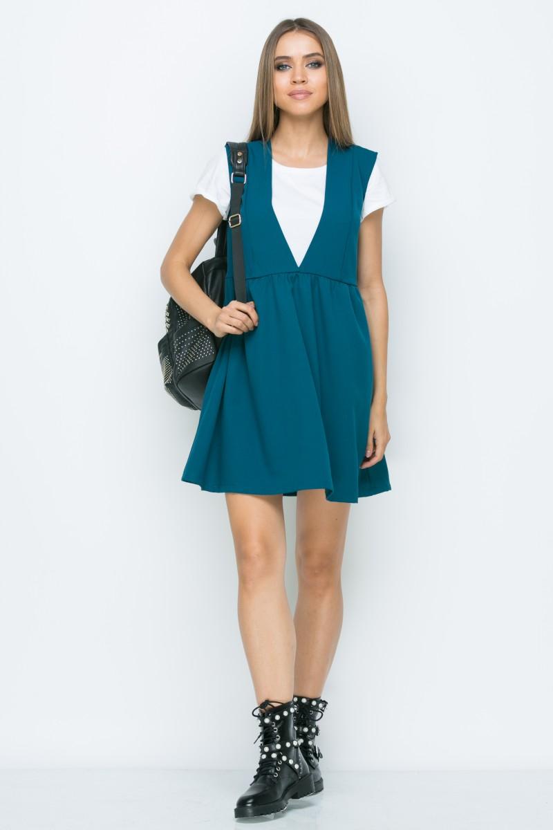Платье A165 цвет изумрудный