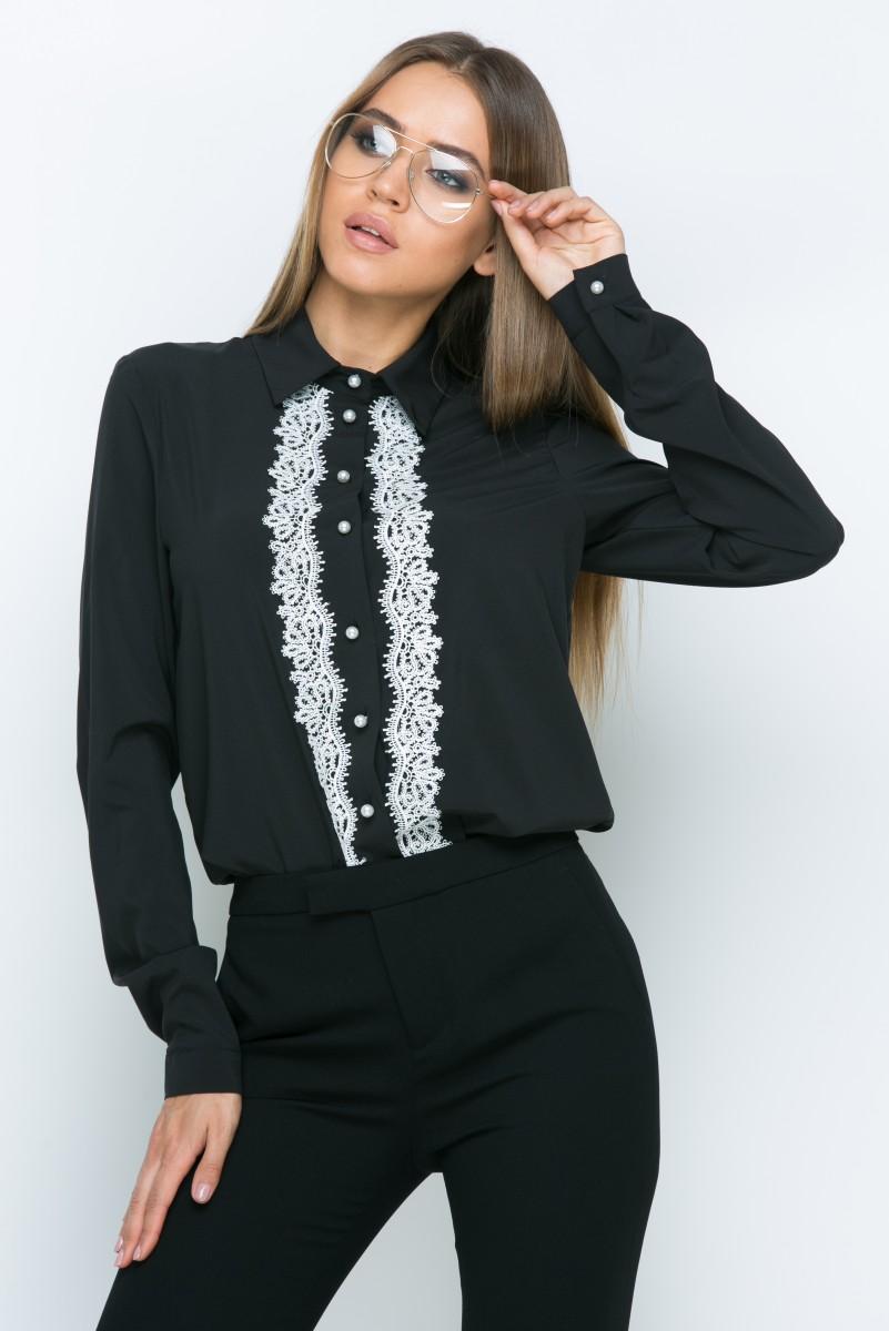 Блузка A159 цвет черный