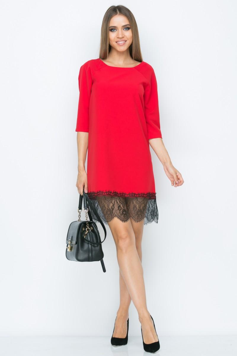 Платье A161 цвет красный