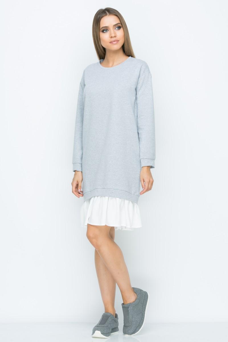 Платье A154 цвет серый
