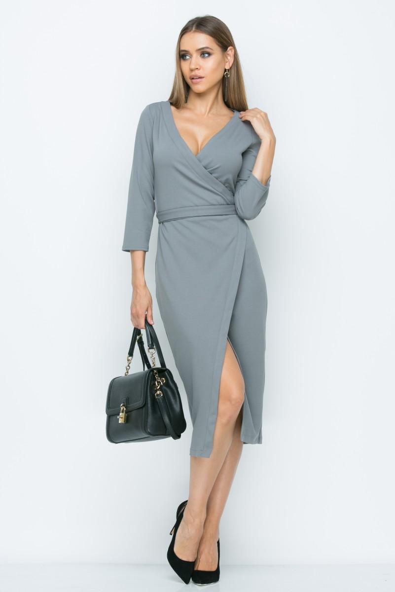 Платье A152 цвет серый