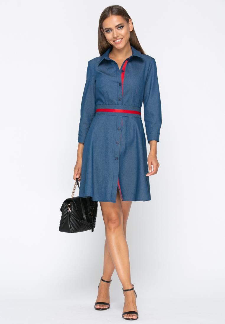 Платье А230 цвет т.синий