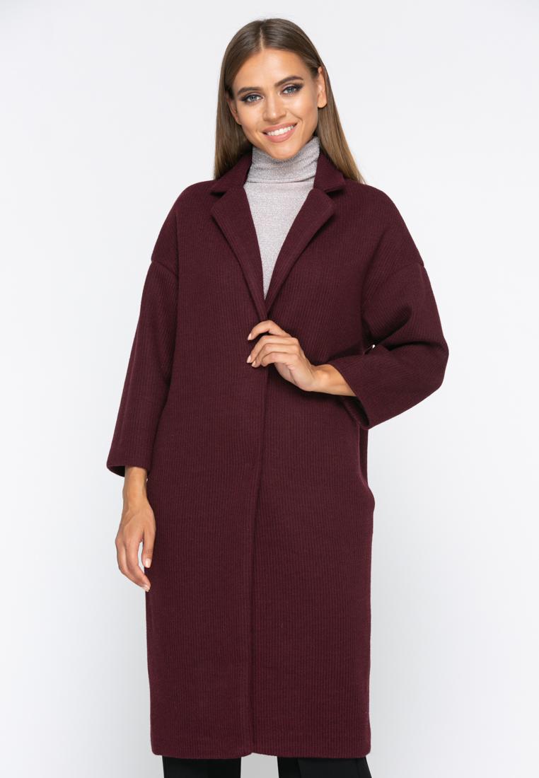 Пальто А164 цвет бордовый