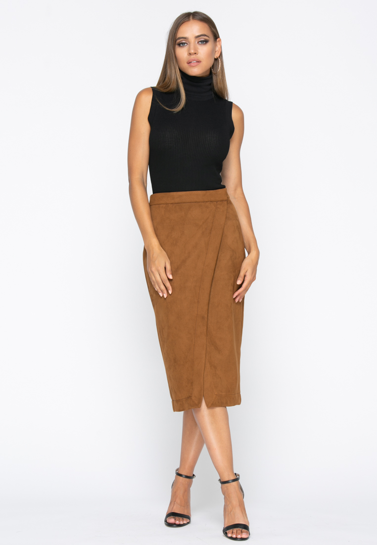 Юбка А237 цвет коричневый