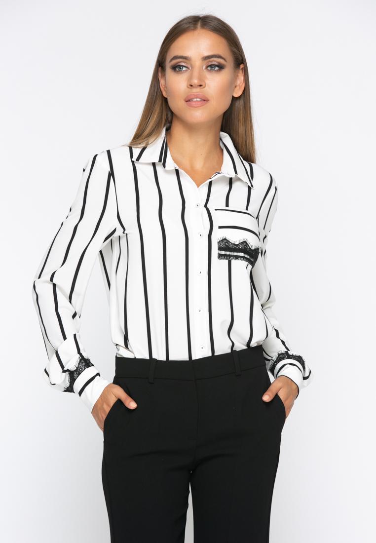 Блузка A235 цвет черно-белый