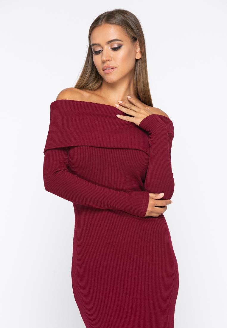 Платье А231 цвет бордовый
