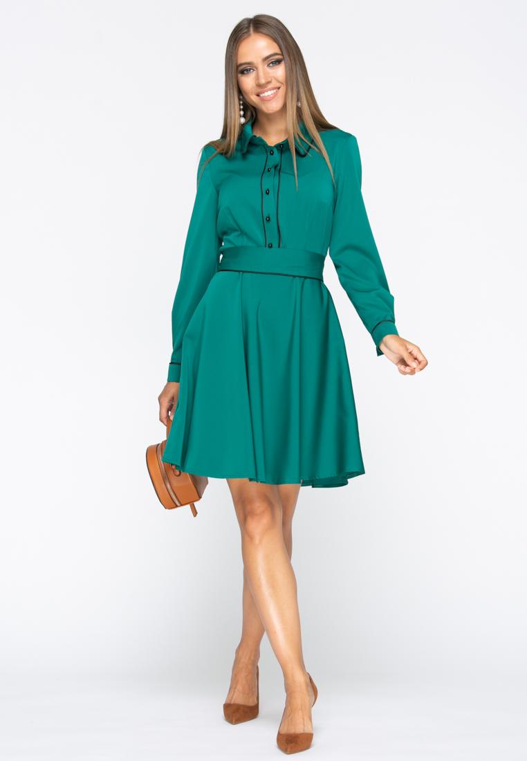 Платье А236 цвет изумрудный