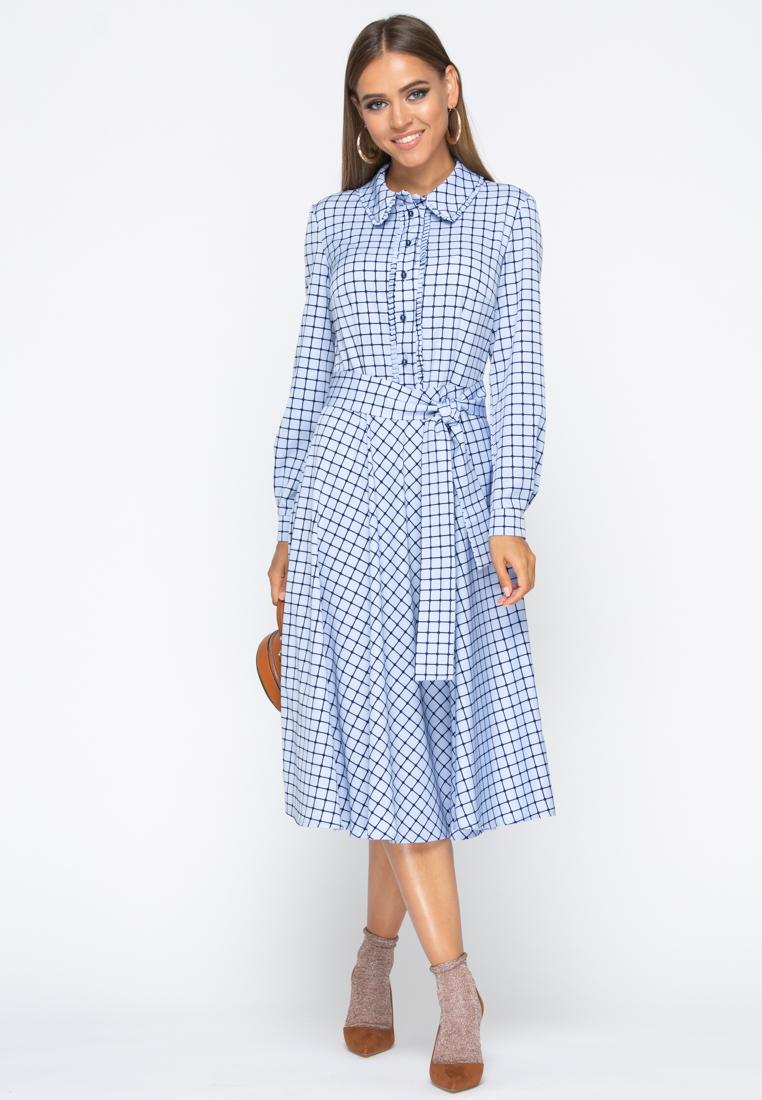 Платье А232 цвет голубой