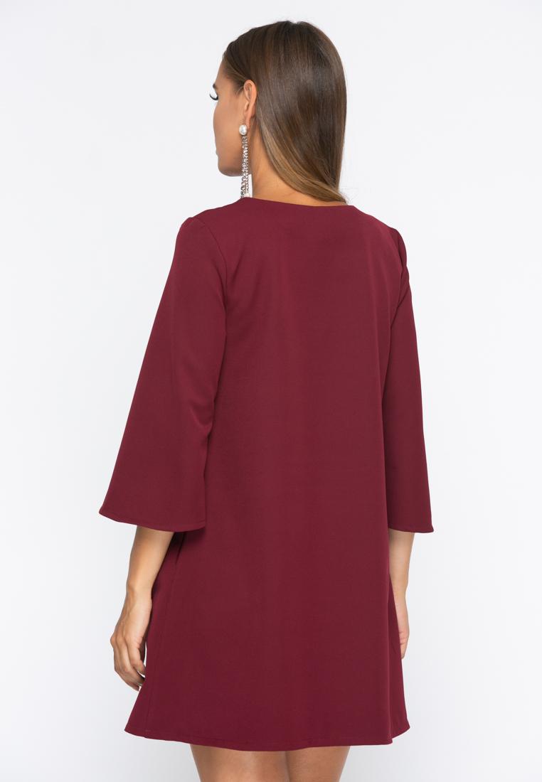Платье А229 цвет бордовый