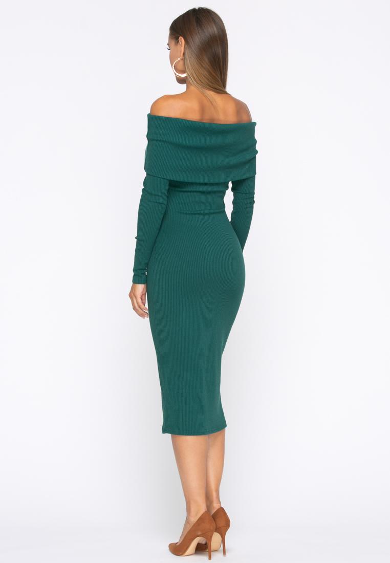 Платье А231 цвет изумрудный