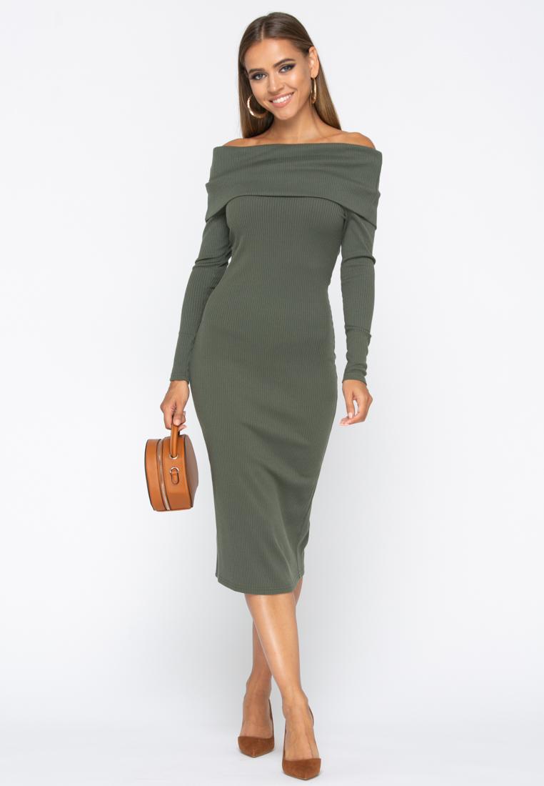 Платье A231 цвет хаки