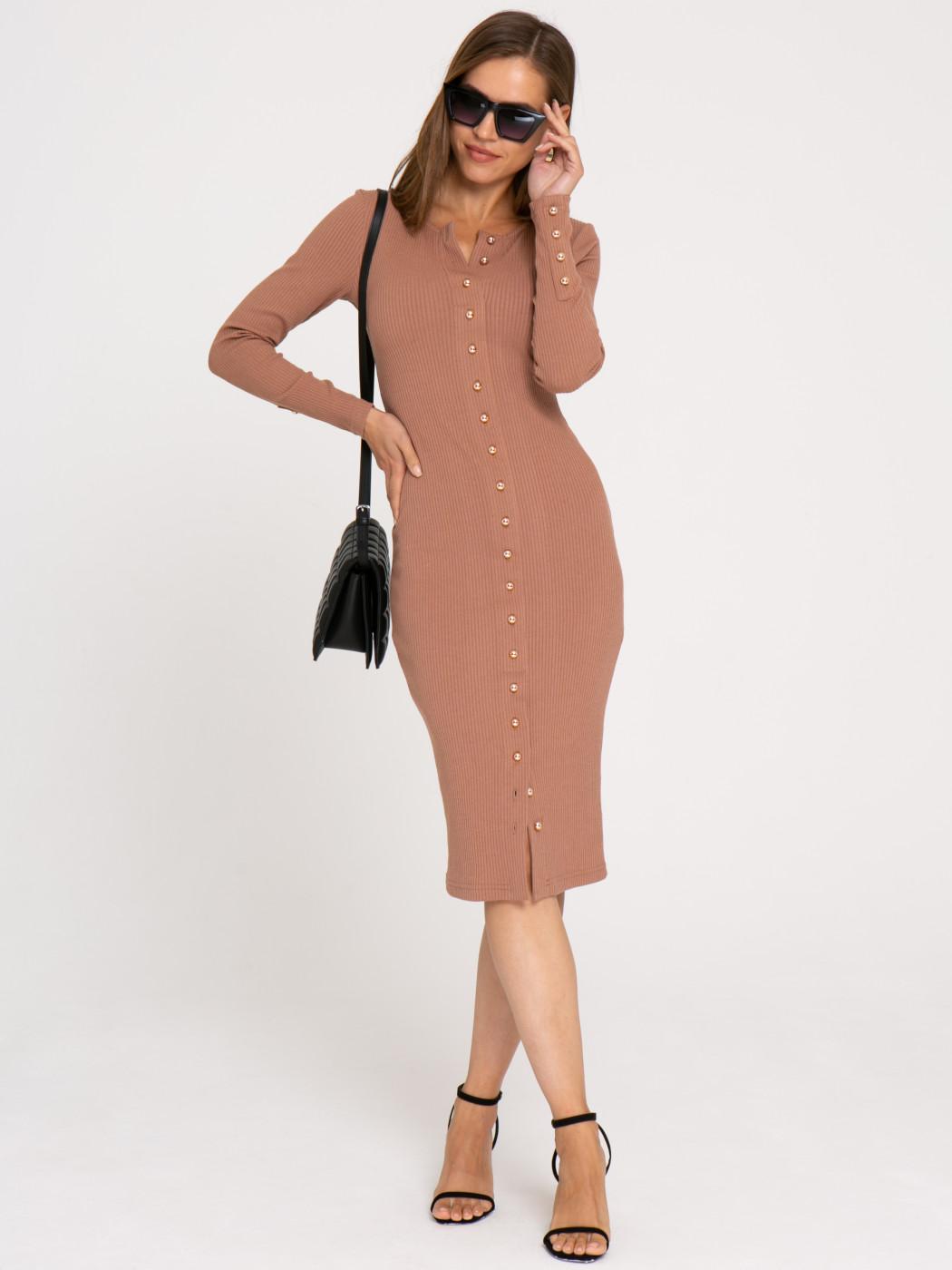 Платье А411 цвет: коричневый