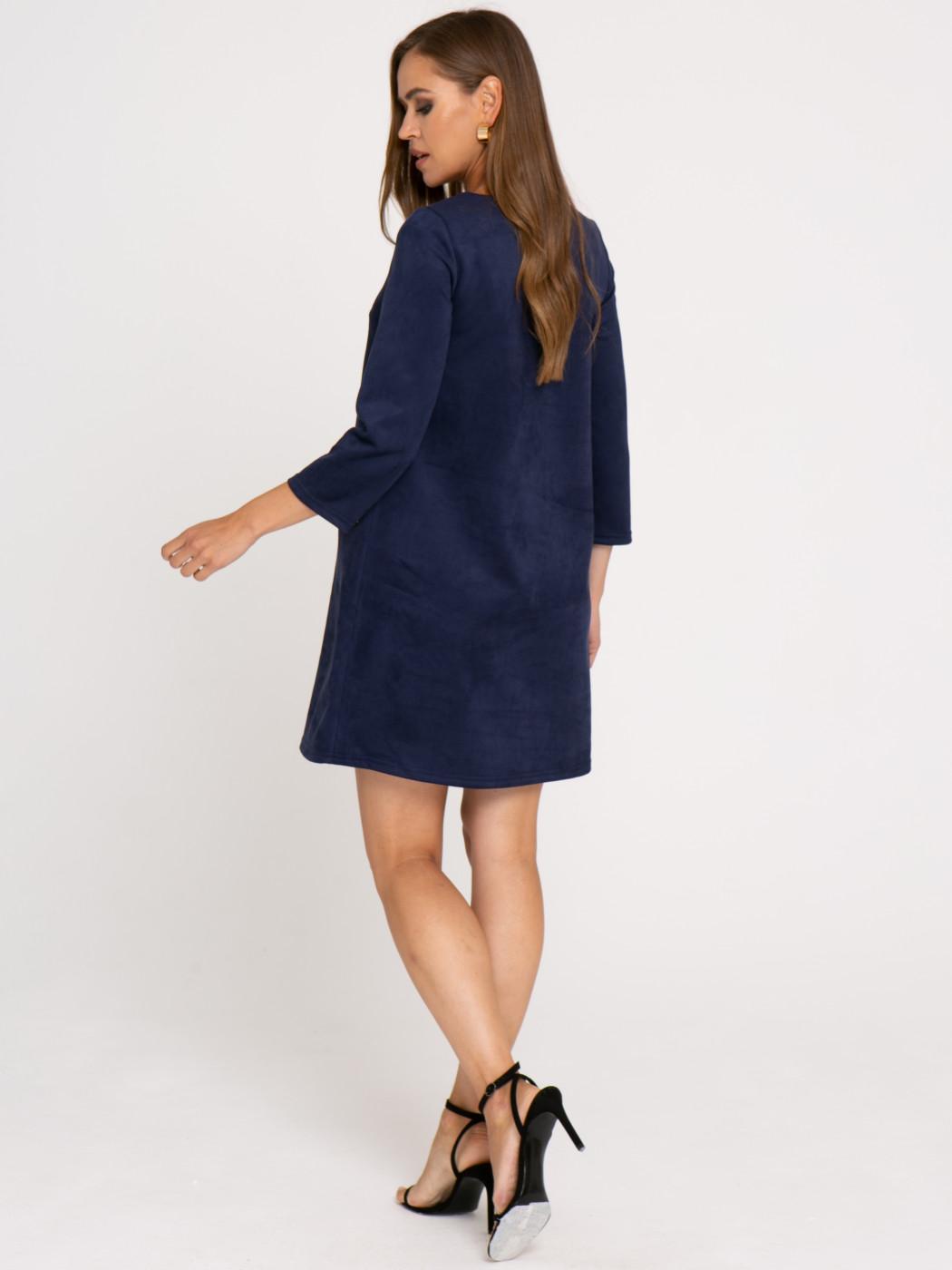 Платье А415 цвет: синий
