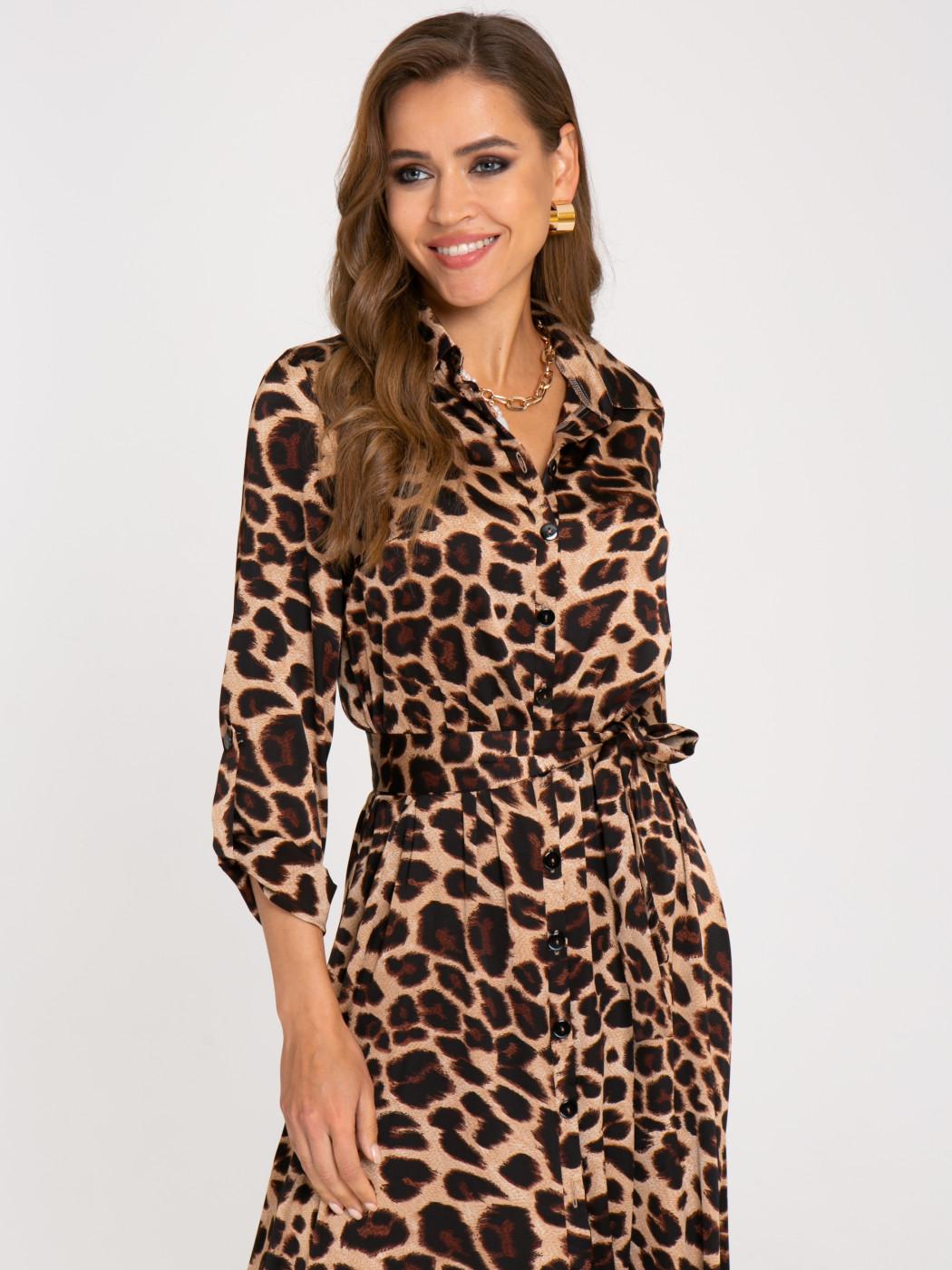 Платье А404 цвет: коричневый