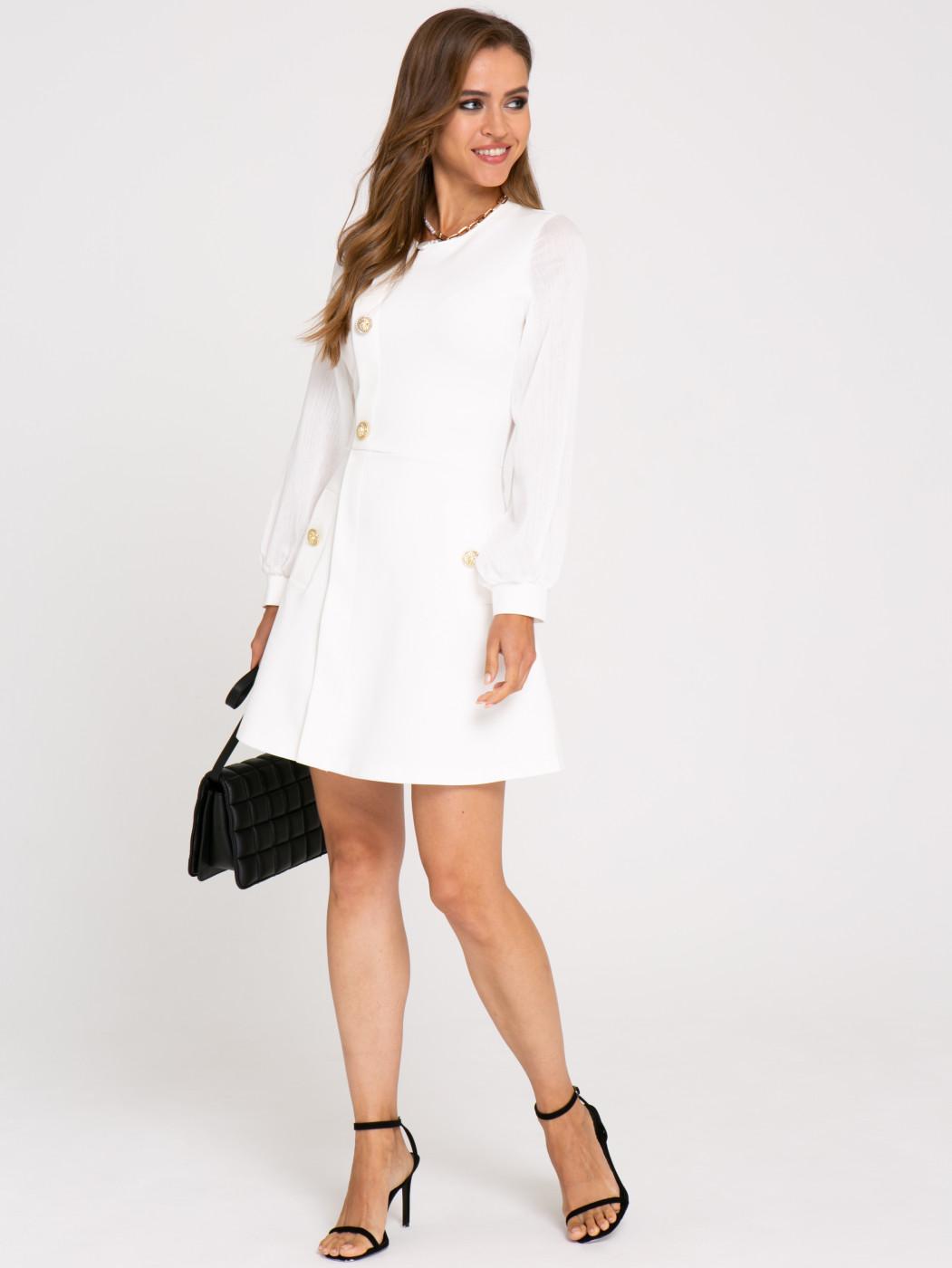 Платье А413 цвет: молочный