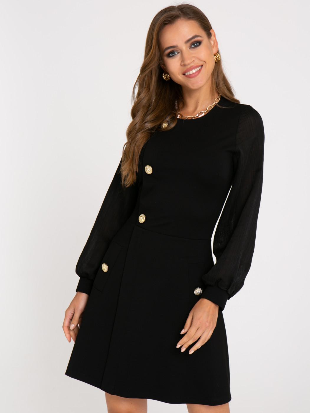 Платье А413 цвет: черный