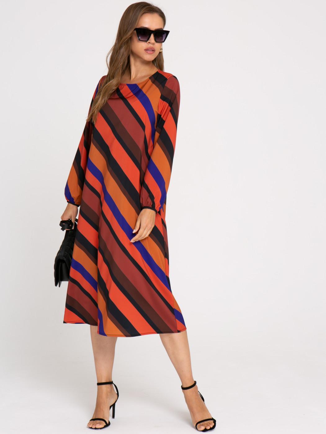 Платье А414 цвет: коричневый