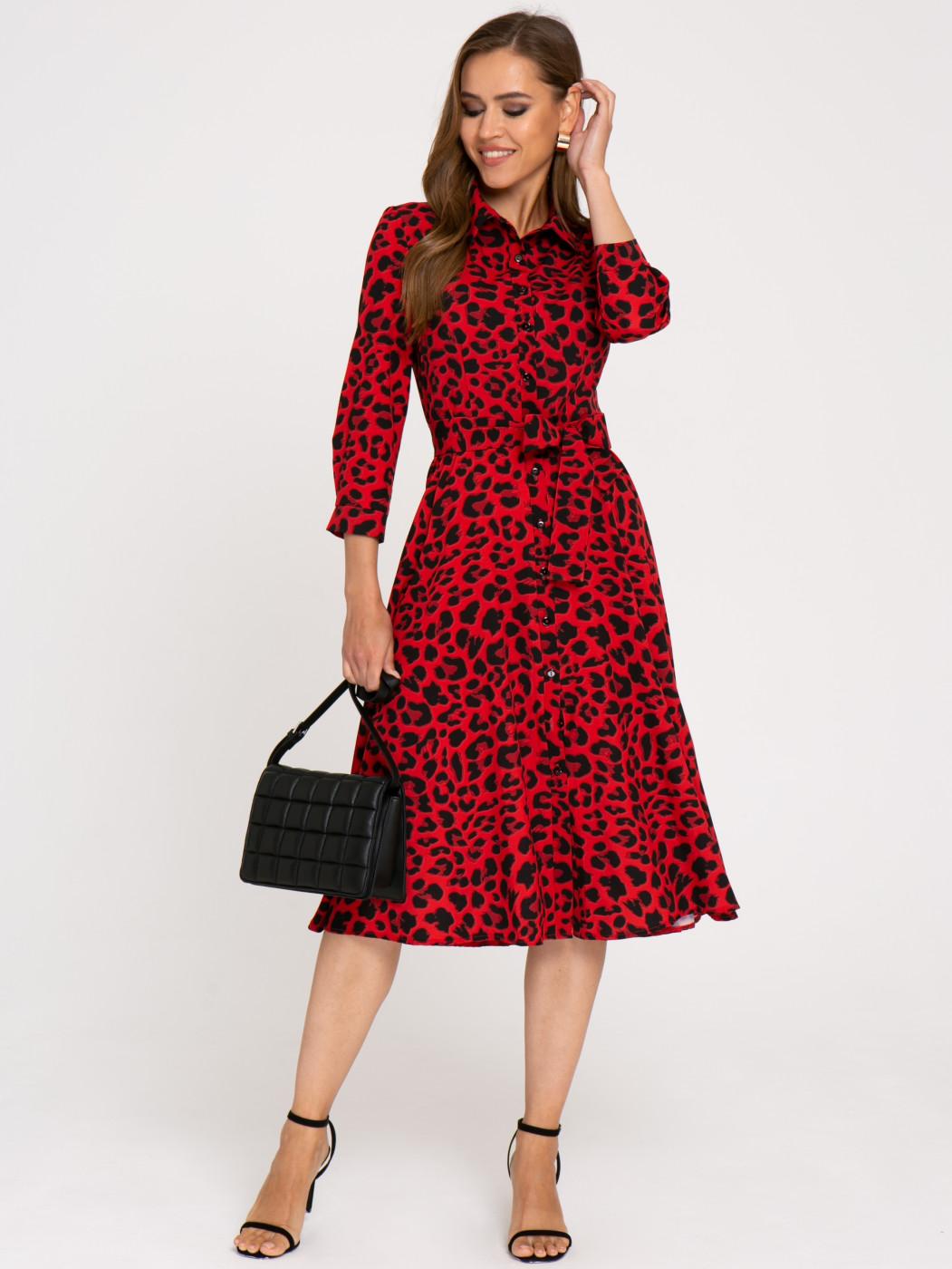 Платье А407 цвет: красно/черный