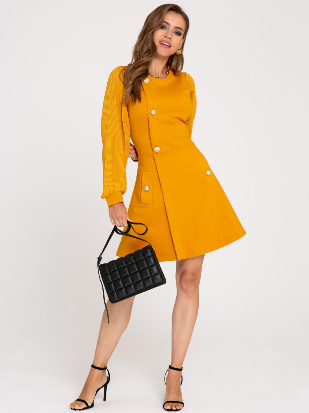 Платье А413 цвет: желтый