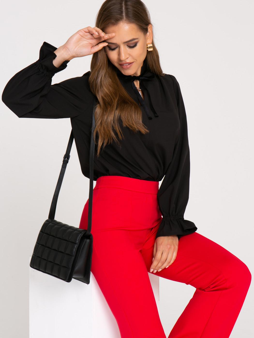 Блузка А417 цвет: черный