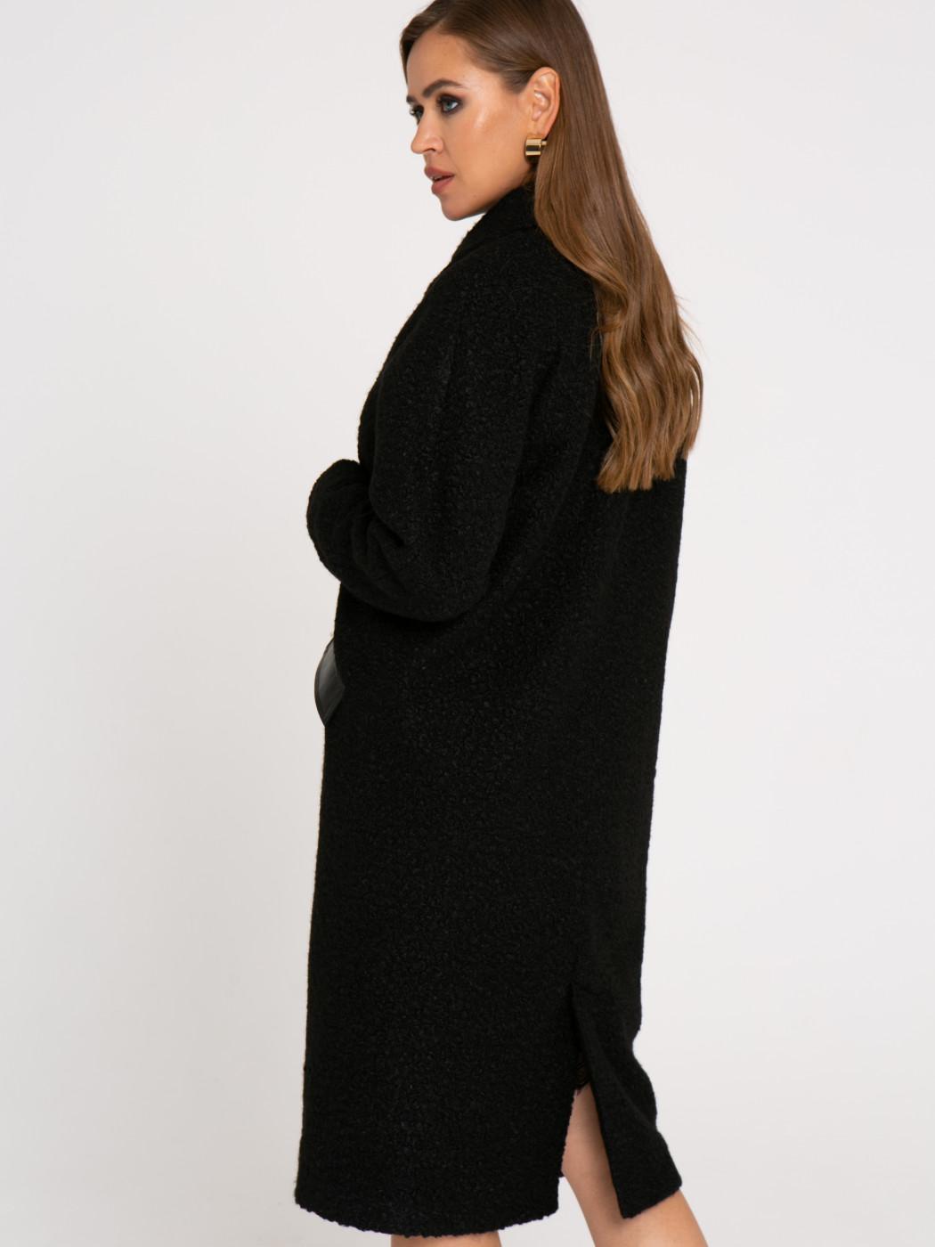 Пальто А412 цвет: черный