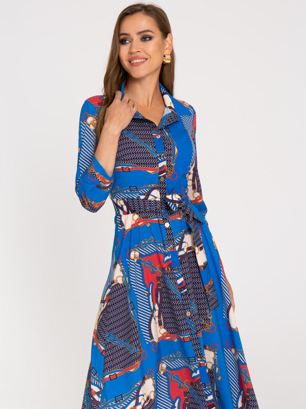Платье А407 цвет:синий