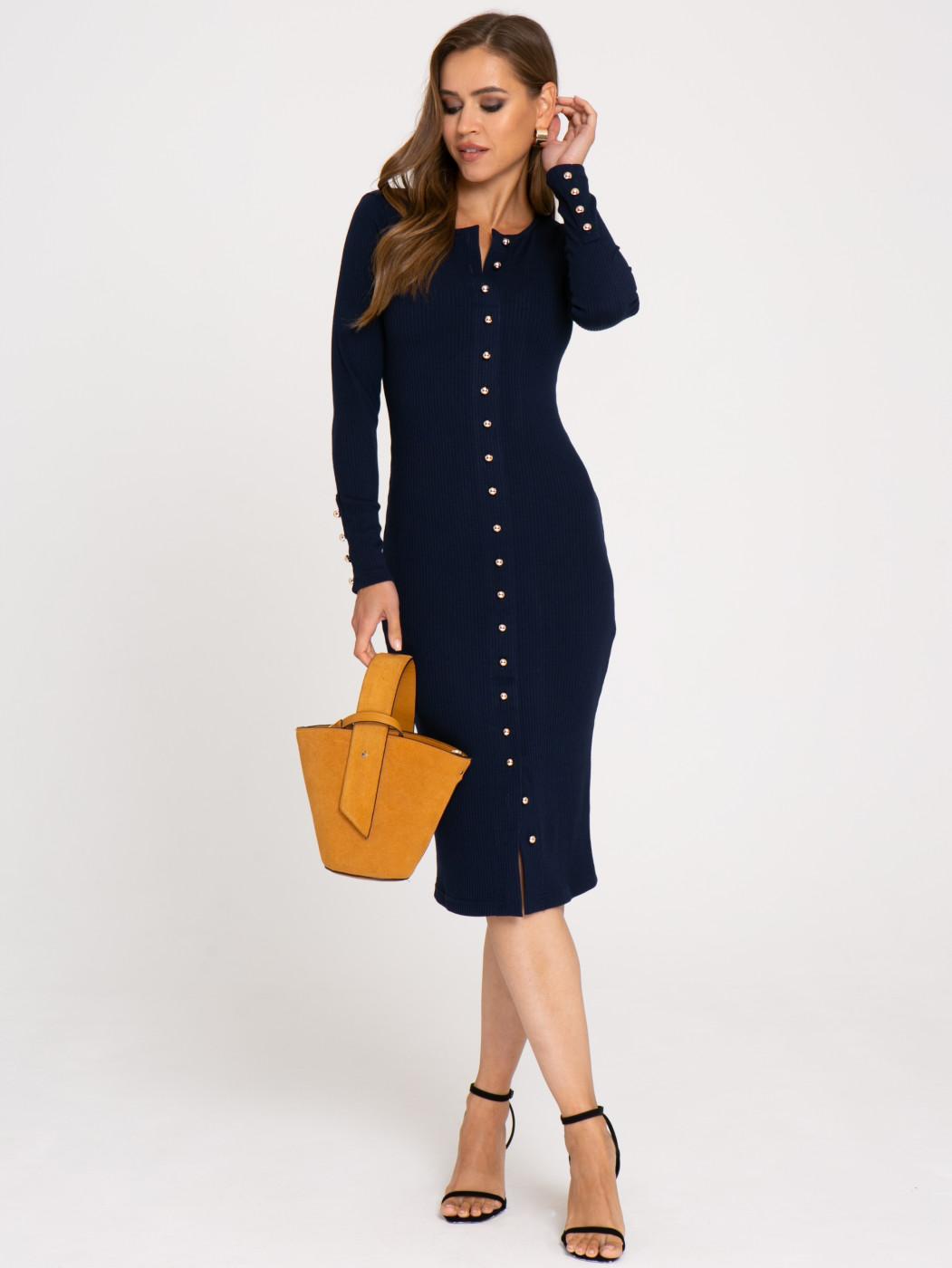 Платье А411 цвет: синий
