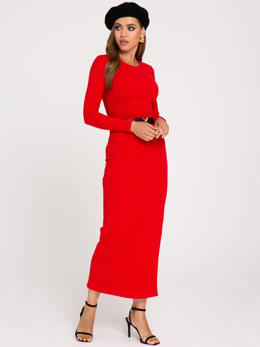Платье А406 цвет: красный