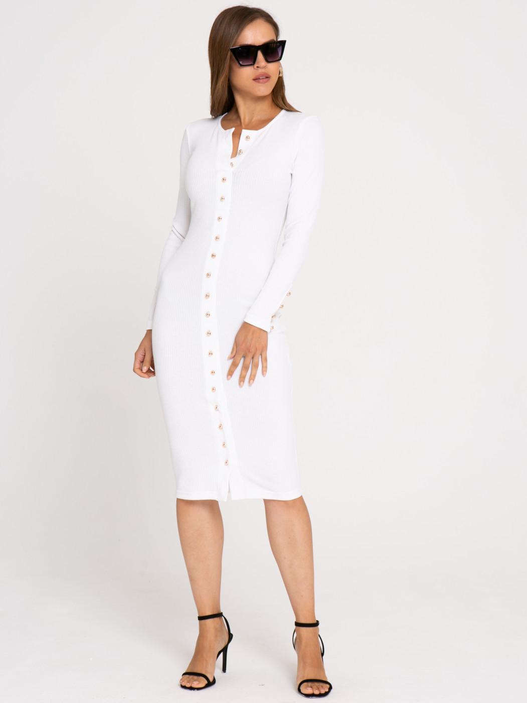 Платье А411 Цвет: молочный