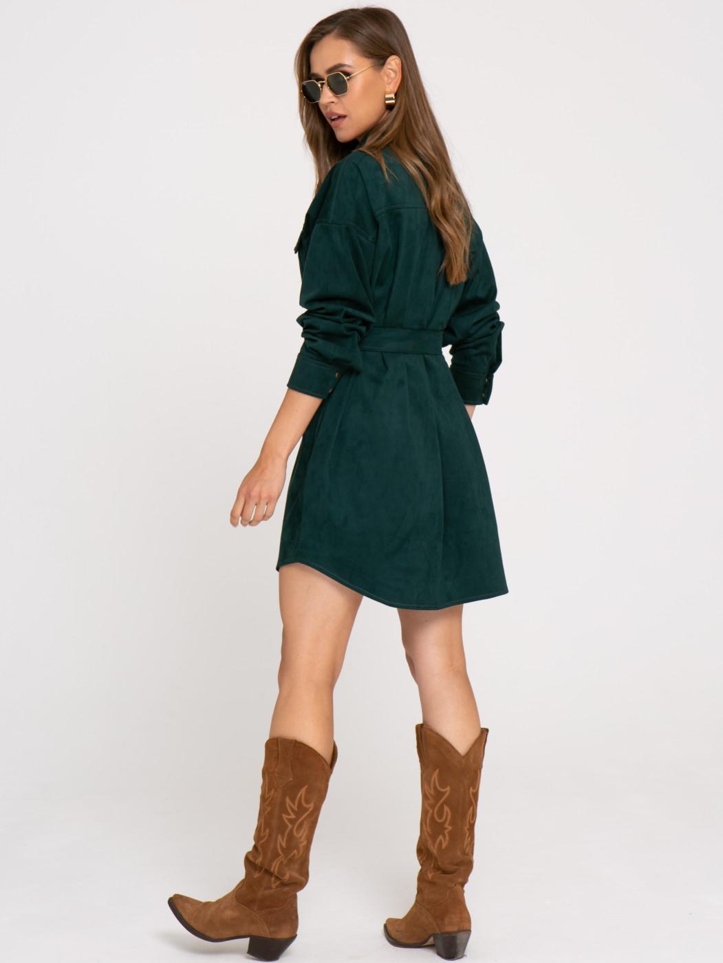 Платье А416 цвет: зеленый