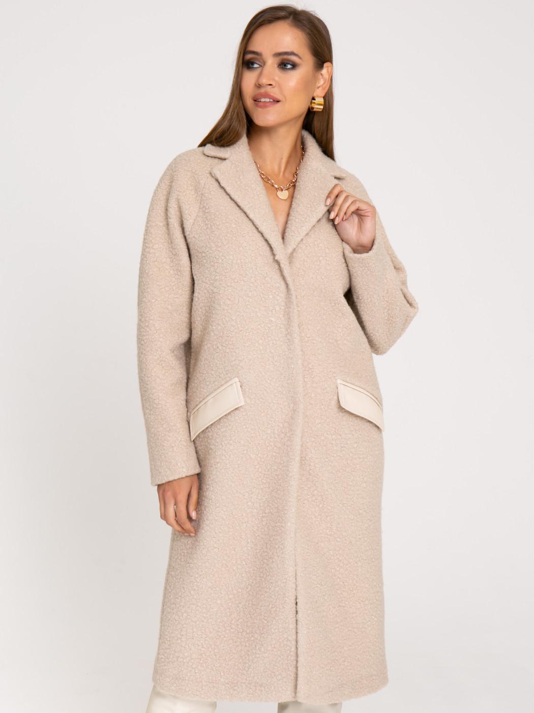 Пальто А412 цвет: бежевый