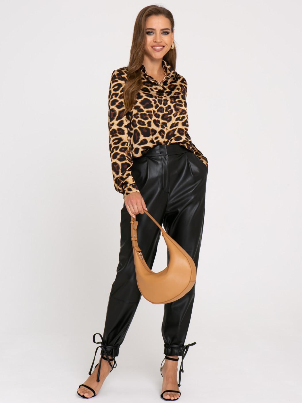 Блузка А419 цвет: коричневый