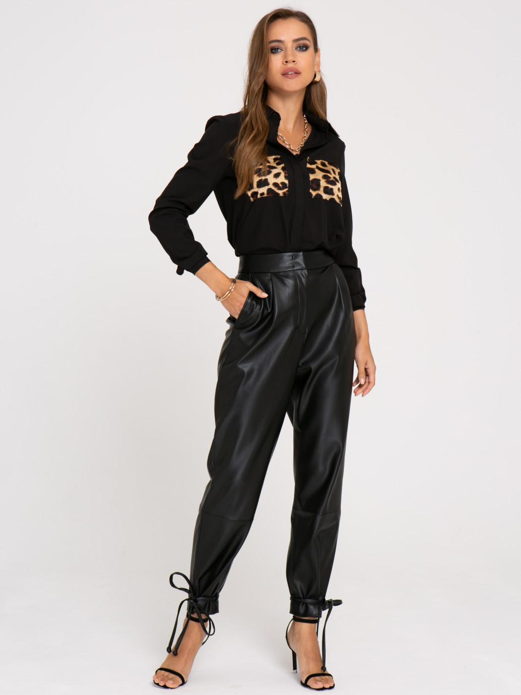 Блузка А402 цвет: черный