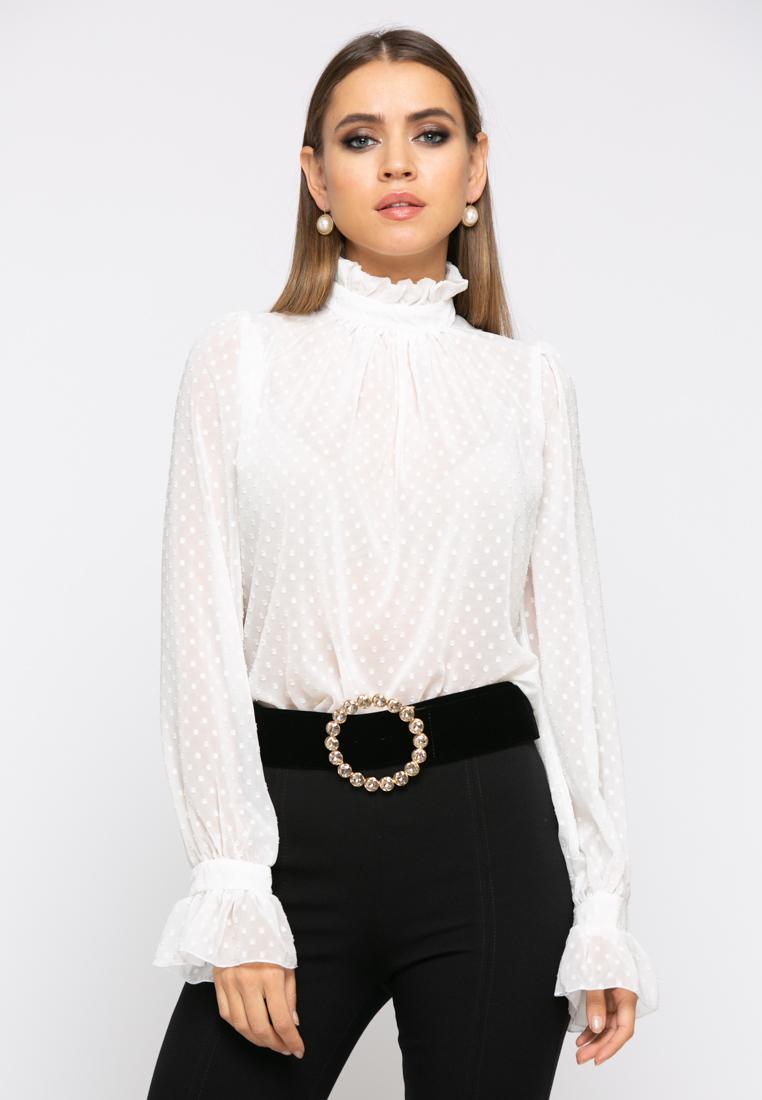 Блузка Z261 цвет молочный